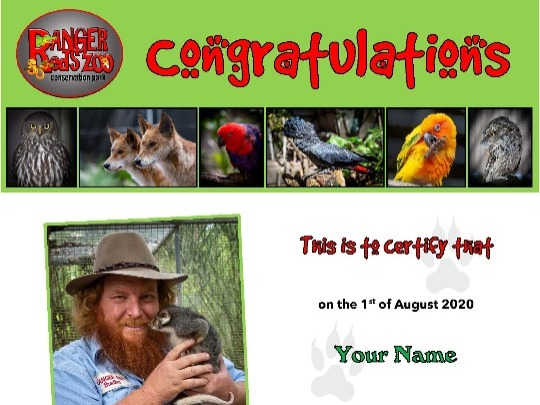 We have re-vamped our Animal Adoption package to give people a chance to support the ongoing care of the Ranger Red's Zoo & Conservation Park animal family.