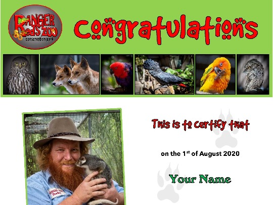 Adopting an animal at Peel Zoo is a beautiful way to show your support for the animal and the Zoo. All Adoption Certificates are personalised according to the animal and the person adopting them.